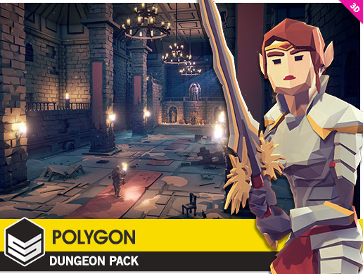 پکیج یونیتی POLYGON - Dungeons Pack