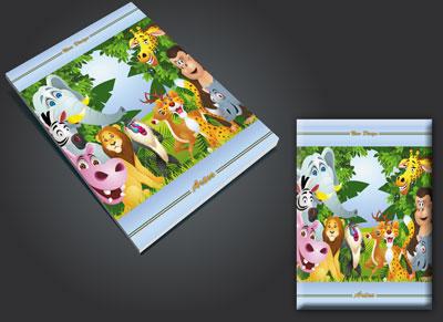 طرح لایه باز جلد دفتر جنگل psd