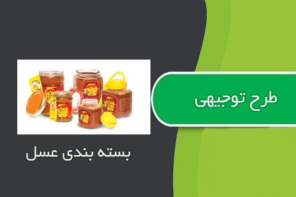 طرح توجیهی بسته بندی عسل به ظرفیت ۲۴۰تن در سال