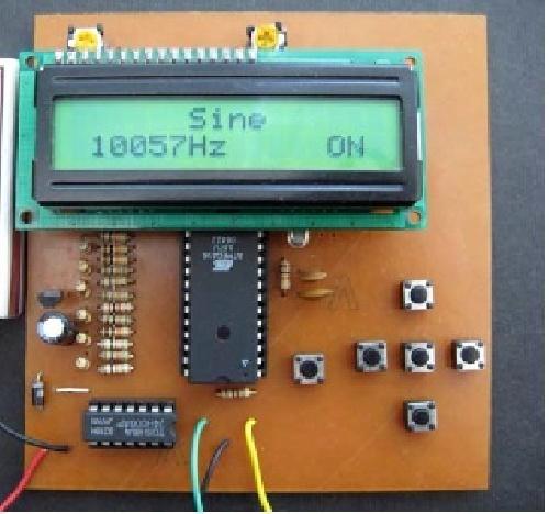 پروژه رشته هاي برق و الکترونیک با عنوان فانکشن ژنراتور کنترل شونده با میکرو کنترولر