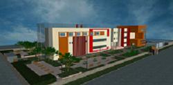 پروژه کامل کتابخانه مرکزی(پلان ها-رندر-3D-مطالعات-تجهیزات) فایل اتوکد
