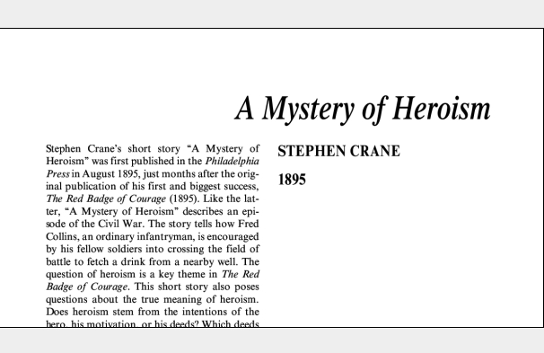 نقد داستان کوتاه A Mystery of Heroism by Stephen Crane