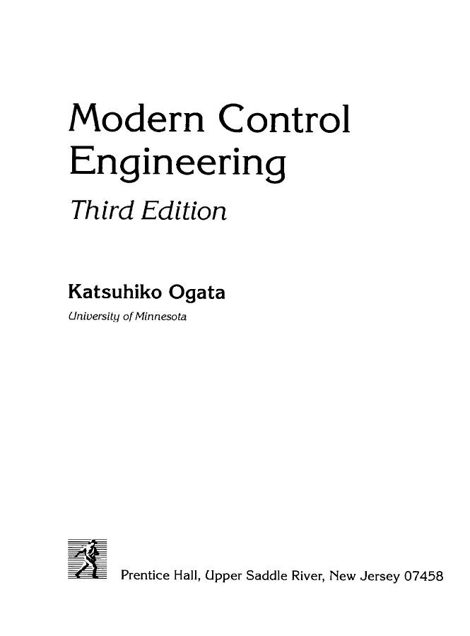دانلود کتاب کنترل اتوماتيک اوگاتا   Modern Control Enginnering -Katsuhiko Ogata همراه با حلل المسايل آن به زبان انگلیسی