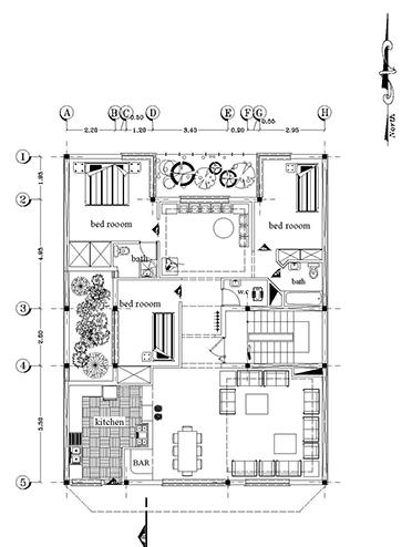 نقشه های آپارتمان -ابعاد 12 در 15- 180 متر بنا 3خوابه