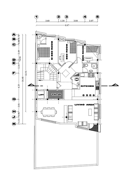 آپارتمان 4طبقه روی همکف -ابعاد 10 در 15-200متر زمین 110 متر بنا 3خوابه تک واحدی -4طبقه روی همکف-همکف پارکینگ،پلان همکف پارکینگ و تیپ طبقات-2نما و یک ب