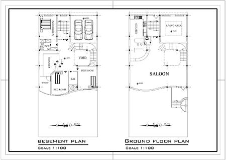 ویلایی 2طبقه -ابعاد زمین 11 در 22  -150 متر بنا به ابعاد 11 در 14-2نما و  1برش (1)