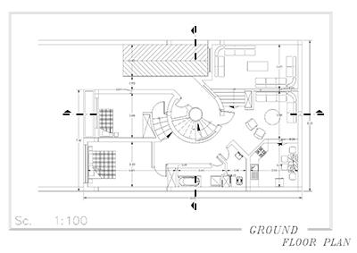 ویلایی دو طبقه-ابعاد 11 در 16-170 متر بنا-دو برش با