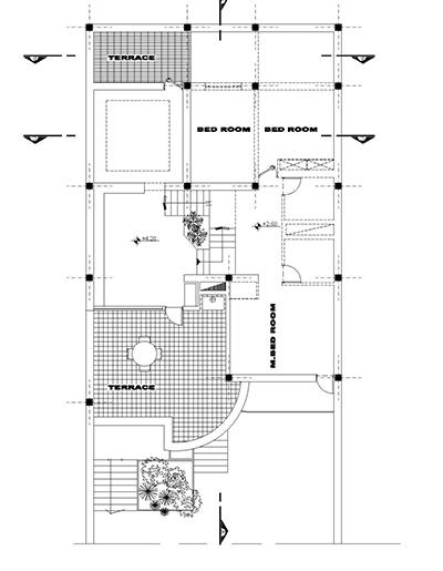 ویلایی دو طبقه-زمین به ابعاد 12در 25-بنا به مساحت 215 و ابعاد 12 در 17-3 برش یک نما به همراه پلان تیر ریزی (1)