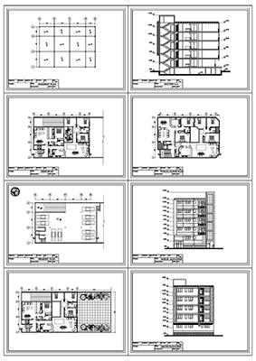 آپارتمان 14 در 19-2 دو واحدی- خوابه 3 و 2 خوابه-290متر بنا-پلان زیر زمین پارکینگ و همکف و تیپ طبقات 2 نما یک برش به همراه پلان تیر ریزی و سایت پلان