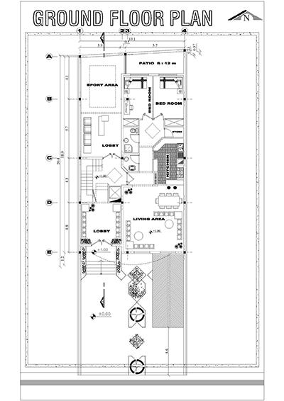آپارتمان 10 در 20 بنا-زمین 10 در 30-  تک واحدی 200 بنا -3 خوابه-4طبقه روی همکف-پلان زیر زمین پارکینگ و همکف و تیپ طبقات بهخ علاوه یک برش و پلان تیر ری