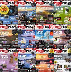 دانلود کامل مجله  PhotoPlus: The Canon Magazine - Full Year 2019 Collection