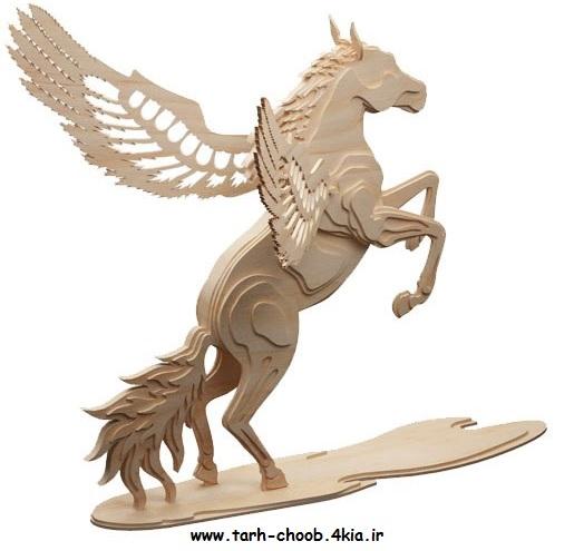 طرح معرق اسب پرنده