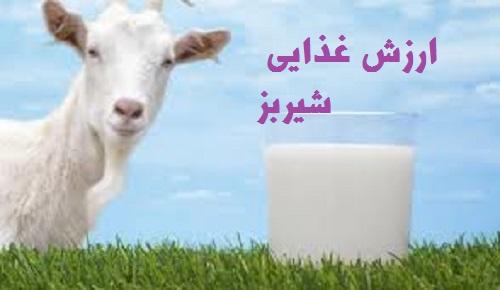 ارزش تغذیه ای ودرمانی شیر بز -مقاله به صورت word