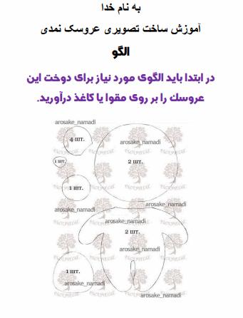 دانلود رایگان فایل اموزش ساخت رایگان عروسک نمدی با فرمت pdf