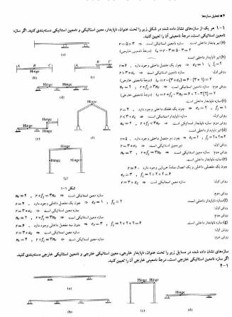 دانلود رایگان فایل حل المسائل  تحلیل سازه طاحونی با فرمت pdf