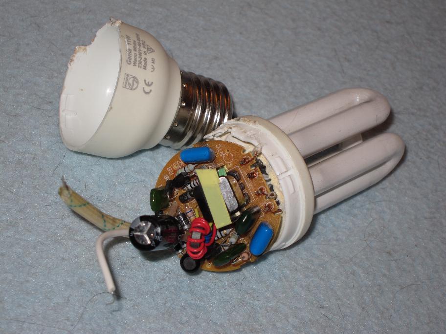 نقشه مدار لامپ کم مصرف