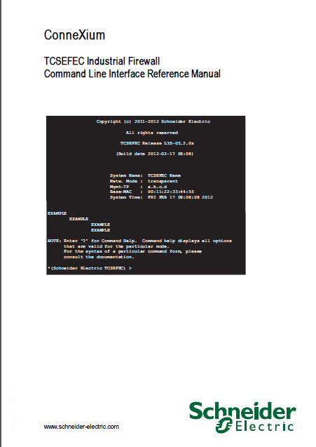 دانلود connexium TCSEFEC industrial firewall command Line Interface Reference Manual
