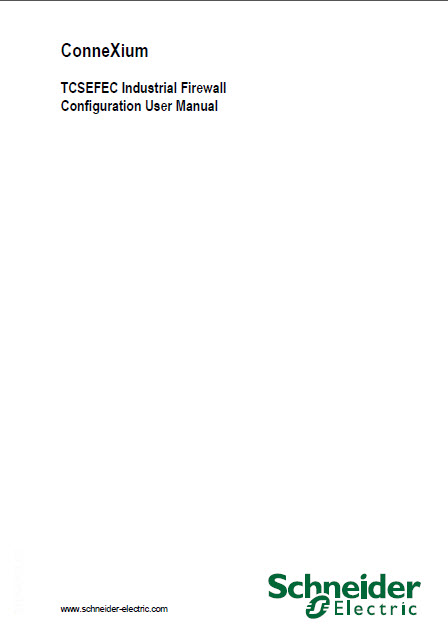 دانلود connexium TCSEFEC industrial firewall configuration user manual