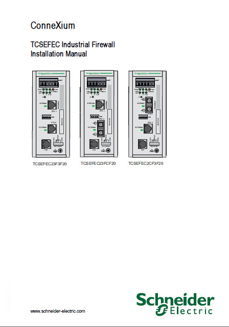دانلود connexium TCSEFEC industrial firewall Installation manual