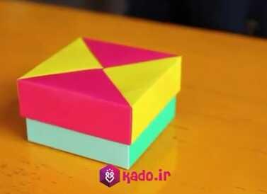 اموزش ساخت جعبه با کاغذ رنگی