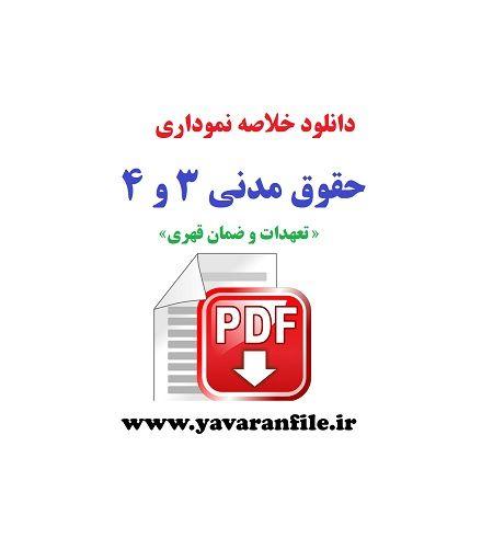 دانلود خلاصه نموداری حقوق مدنی 3 و 4 تعهدات و ضمان قهری