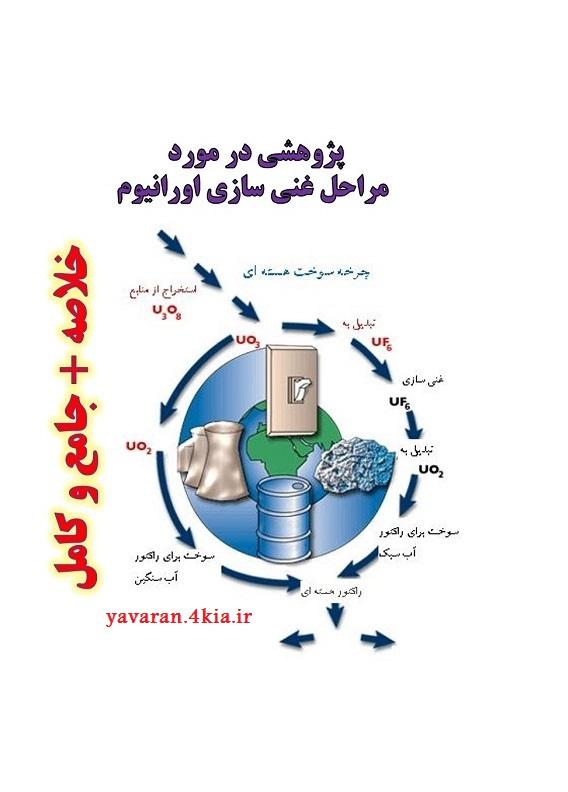 پژوهشی در مورد مراحل غنی سازی اورانیوم