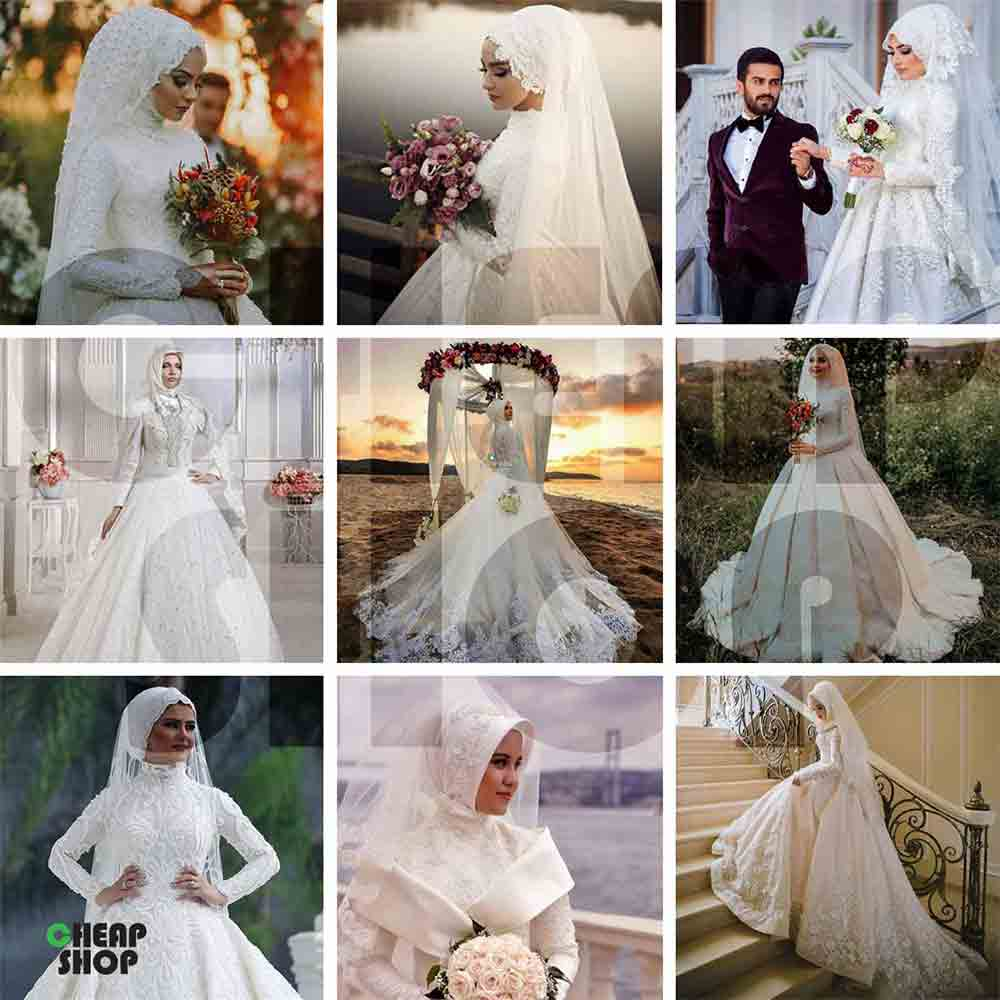 مجموعه  ی جدید، فوق العاده متنوع و جذاب تصاویر لباس عروس - اسلامی