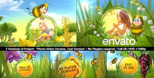 پروژه آماده افترافکت عکس کودک با عنوان زنبور خوشحالFUNNY BEE SLIDESHOW (تخفیف ویژه)