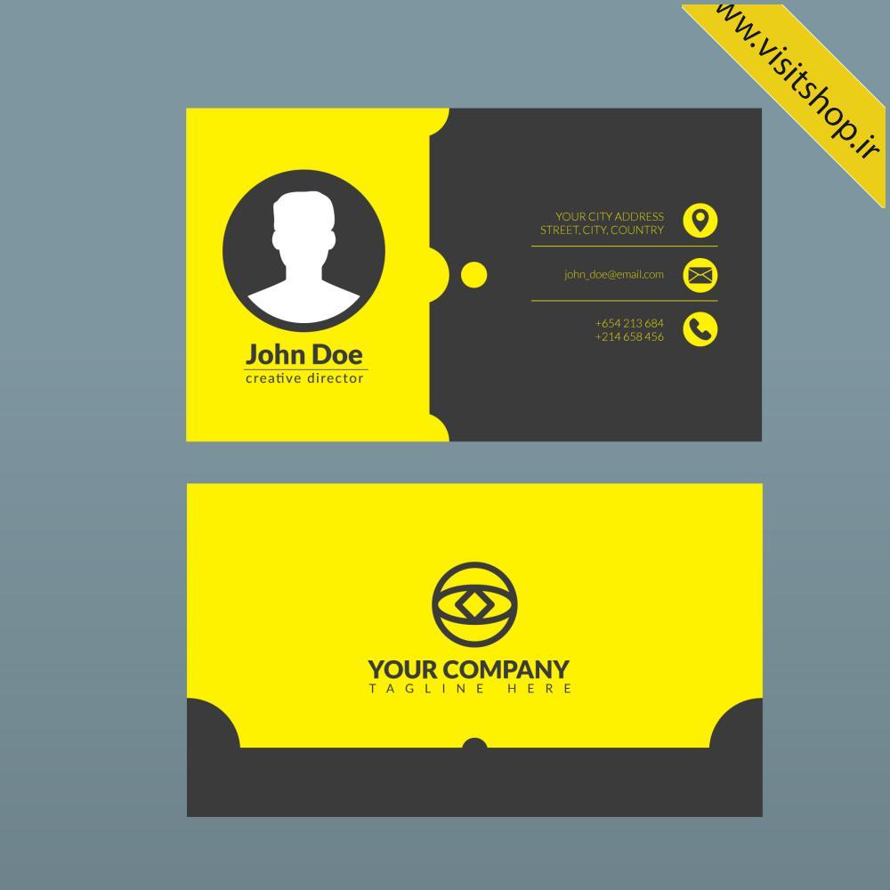 دانلود کارت ویزیت شخصی مشکی زرد