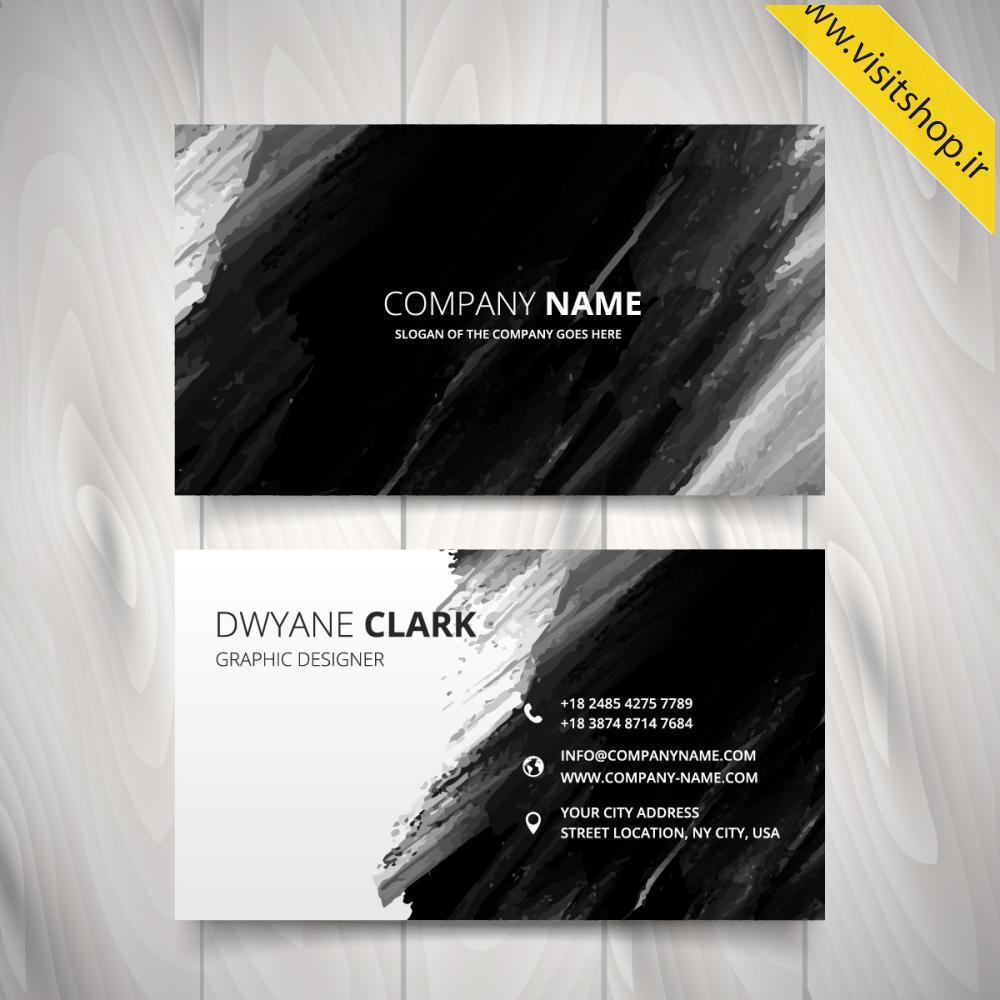 دانلود کارت ویزیت سیاه و سفید بسیار خاص و زیبا