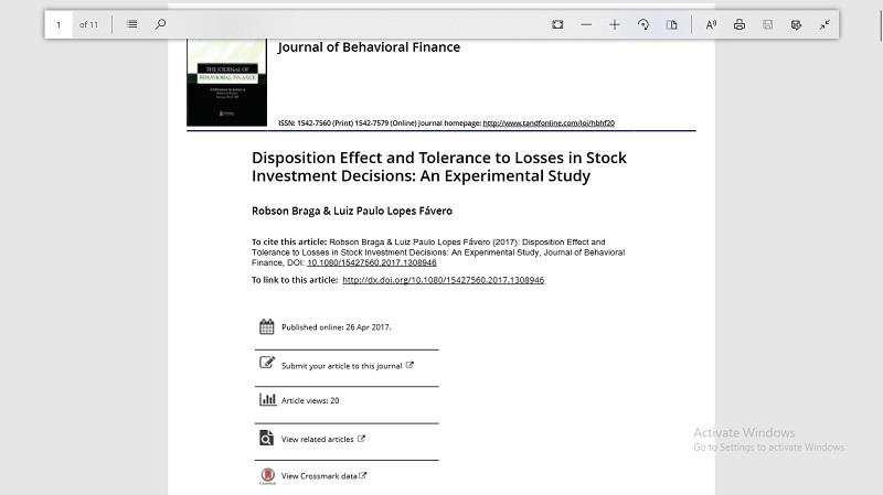 تاثیر وضعیت و تحمل به زیان در تصمیم گیری های سرمایه گذاری سهام: یک مطالعه تجربی  مالی رفتاری