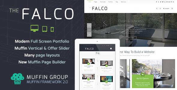 قالب شرکتی و تجاری چند منظوره فالکو