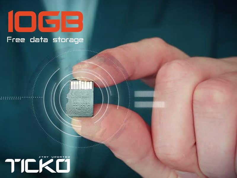 فضای ذخیره سازی رایگان 10 گیگا بایتی و بیشتر