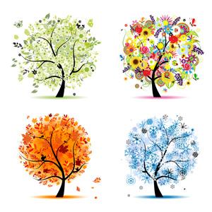 وکتور لایه باز درخت در چهار فصل 3