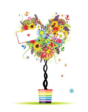 درخت قلبی