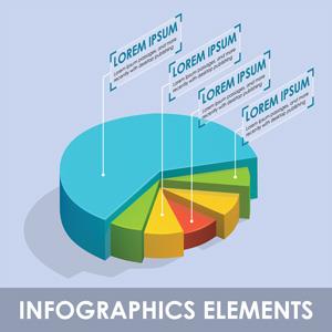 لایه باز نمودار 3 بعدی آماری اینفوگرافی