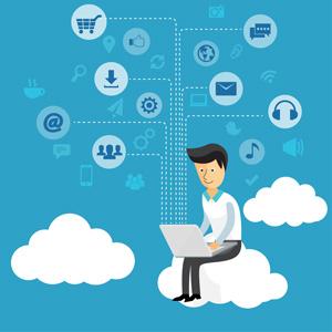 فایل لایه باز سرویس های ابری و مجازی (psd)