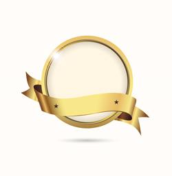 لیبل و نشان طلایی لایه باز