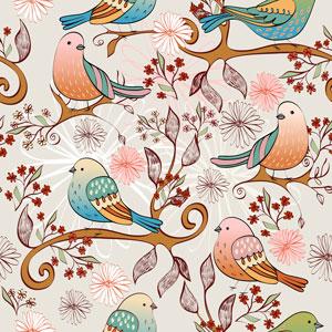 لایه باز پس زمینه کودک پرنده های رنگی