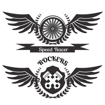لوگو لایه باز موتور سیکلت ریسر