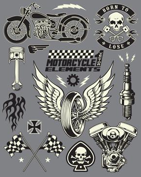 وکتور لایه باز موتورسیکلت چرخ و قطعات موتور سیکلت