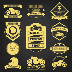 لوگو لایه باز موتورسیکلت کلاه ایمنی