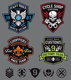 لوگو های لایه باز موتورسواری و مسابقات