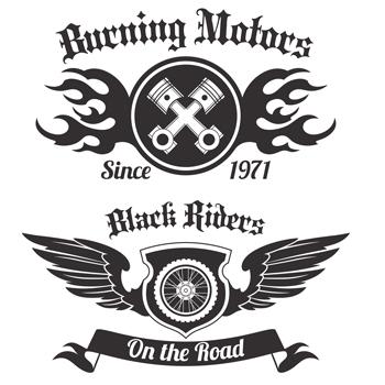 لوگو لایه باز پیستون وچرخ موتورسیکلت