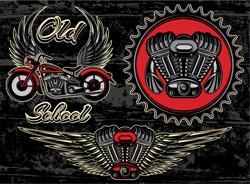 لوگو لایه باز موتورسیکلت