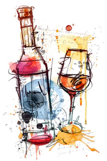 لایه باز وکتور جام و بطری