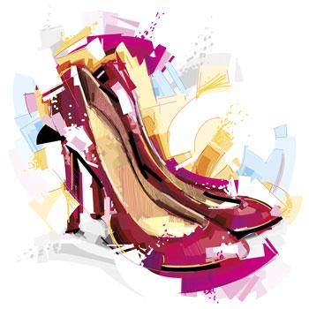 لایه باز وکتور کفش زنانه