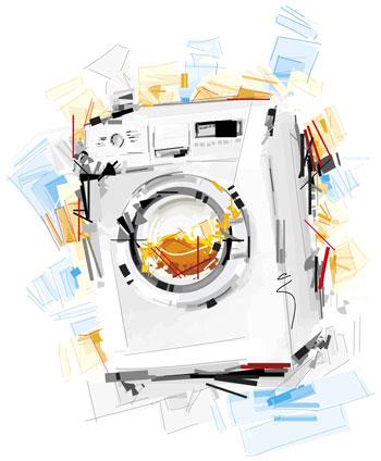 لایه باز وکتور ماشین لباسشویی