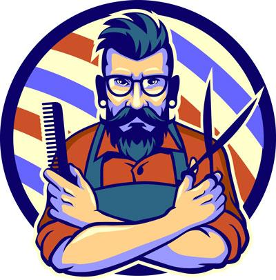 لایه باز لوگو آرایشگاه مردانه