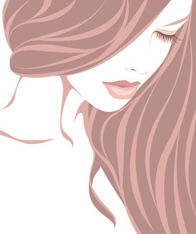 لایه باز وکتور دختر  با موهای بلند (2)